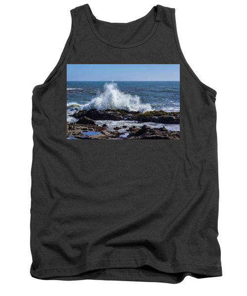 Wave Crashing On California Coast 1 Tank Top