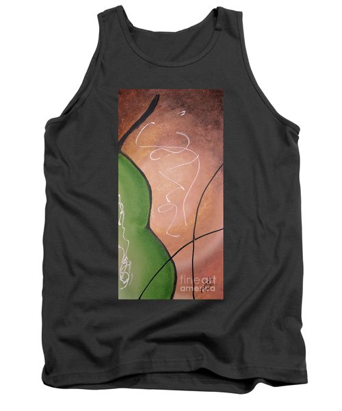 Tank Top featuring the painting Half Pear Still Life Abstract Art By Saribelleinspirationalart by Saribelle Rodriguez