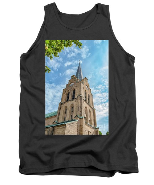 Tank Top featuring the photograph Halmstad Church In Sweden by Antony McAulay