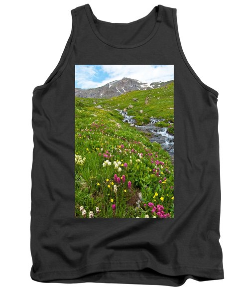 Handie's Peak And Alpine Meadow Tank Top