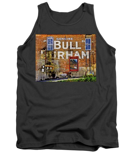Tank Top featuring the photograph Handpainted Sign On Brick Wall by David and Carol Kelly