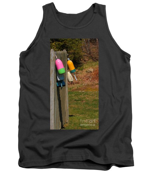 Tank Top featuring the photograph Hanging Buoys by Debbie Stahre