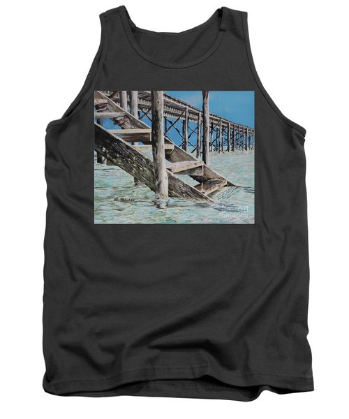 Hanging Out At Cherokee Long Dock Tank Top