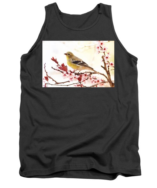 Happy Goldfinch Tank Top by Trina Ansel
