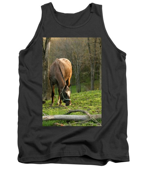 Tank Top featuring the photograph Happy Grazing by Angela Rath