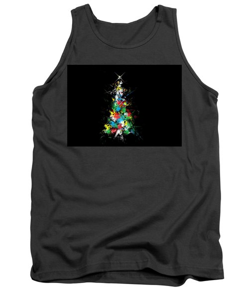 Happy Holidays - Abstract Tree - Horizontal Tank Top