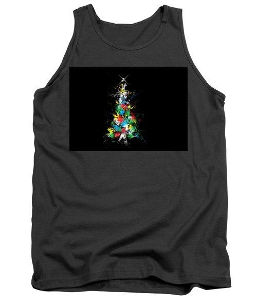 Happy Holidays - Abstract Tree - Horizontal Tank Top