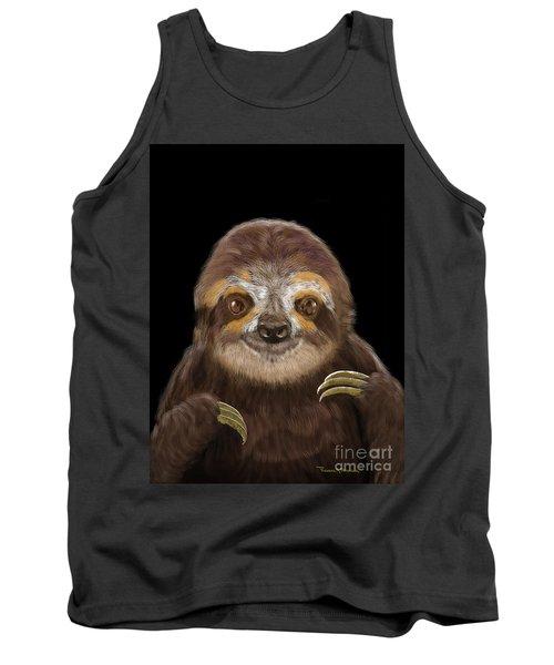 Happy Three Toe Sloth Tank Top