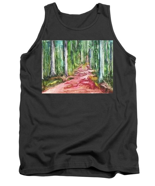 Tank Top featuring the painting Happy Trail by Anna Ruzsan