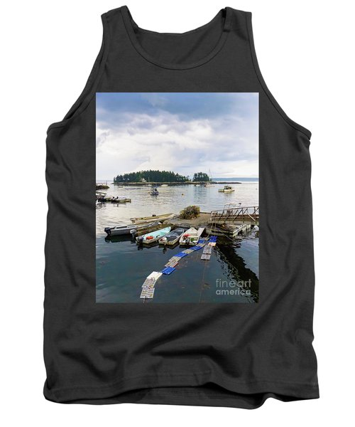 Harbor At Georgetown Five Islands, Georgetown, Maine #60550 Tank Top