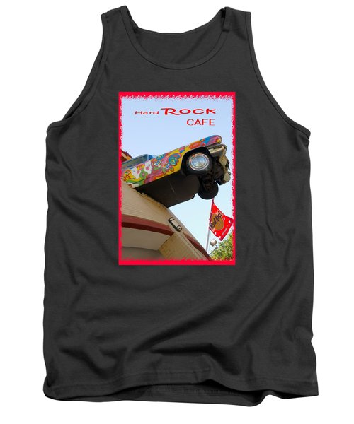 Tank Top featuring the photograph Hard Rock Cafe N Y by Bob Pardue