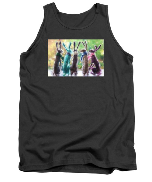 Hares With Scarves Tank Top