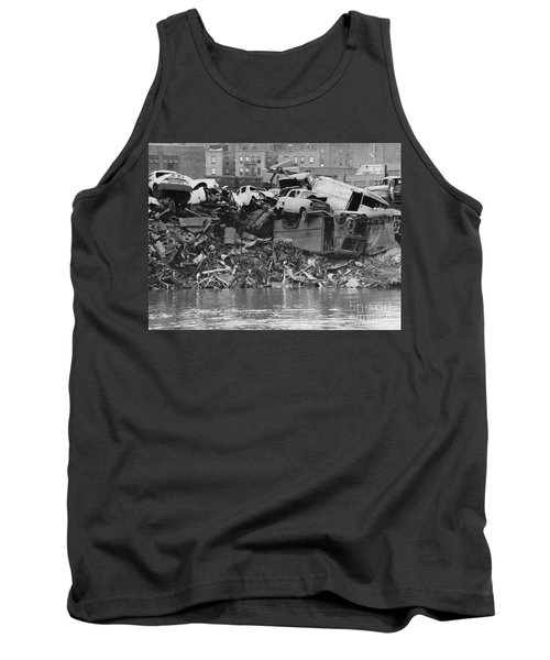 Tank Top featuring the photograph Harlem River Junkyard, 1967 by Cole Thompson