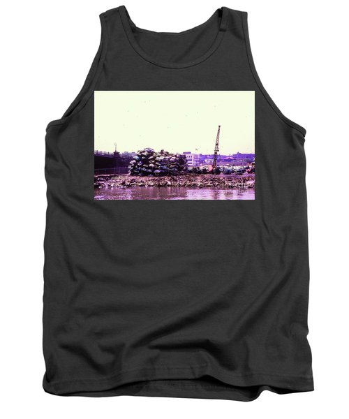 Tank Top featuring the photograph Harlem River Junkyard by Cole Thompson