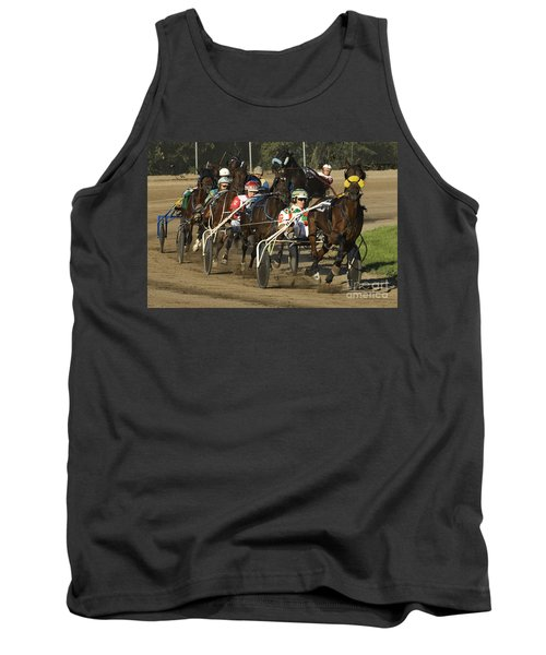Harness Racing 9 Tank Top by Bob Christopher