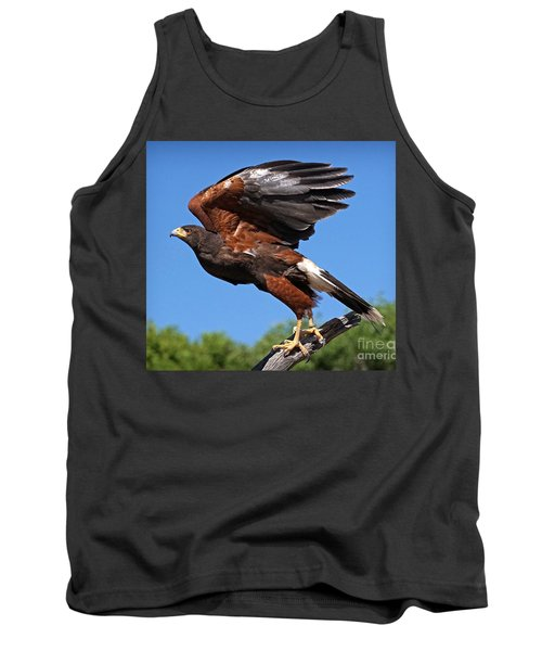Tank Top featuring the photograph Harris's Hawk by Martin Konopacki