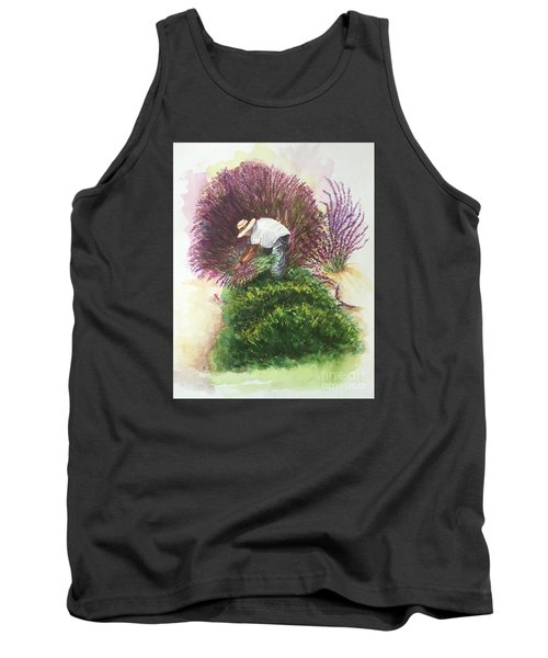 Harvesting Lavender Tank Top by Lucia Grilletto
