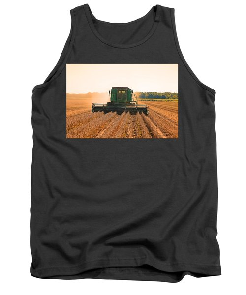 Harvesting Soybeans Tank Top by Ronald Olivier