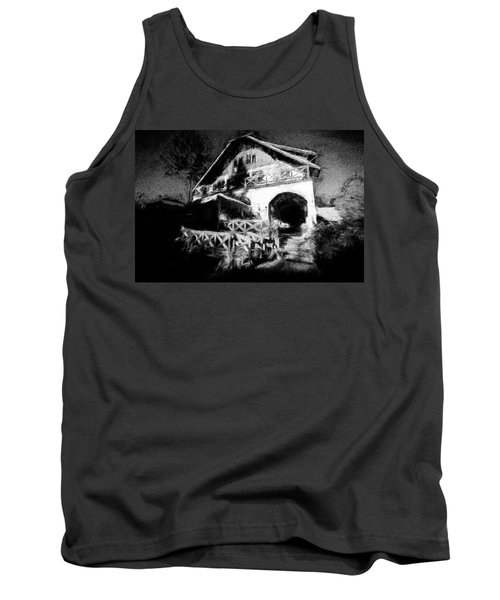 Haunted House Tank Top by Celso Bressan