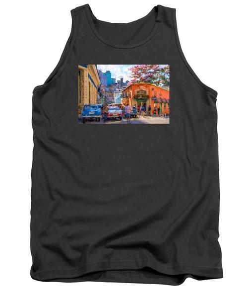 Havana In Bloom Tank Top by Les Palenik
