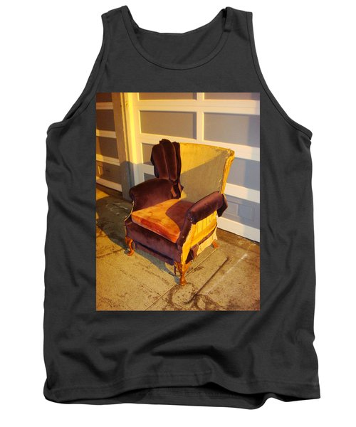 Tank Top featuring the photograph Have A Seat In Dore Alley by Mr Photojimsf