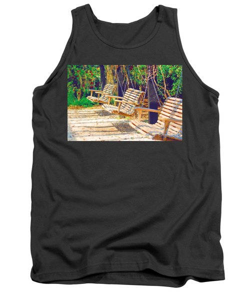Tank Top featuring the photograph Have A Seat Relax by Donna Bentley