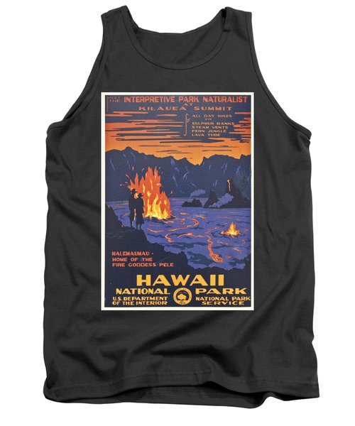 Hawaii Vintage Travel Poster Tank Top by Georgia Fowler