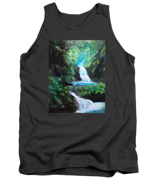 Hawaiian Waterfalls Tank Top by Jenny Lee