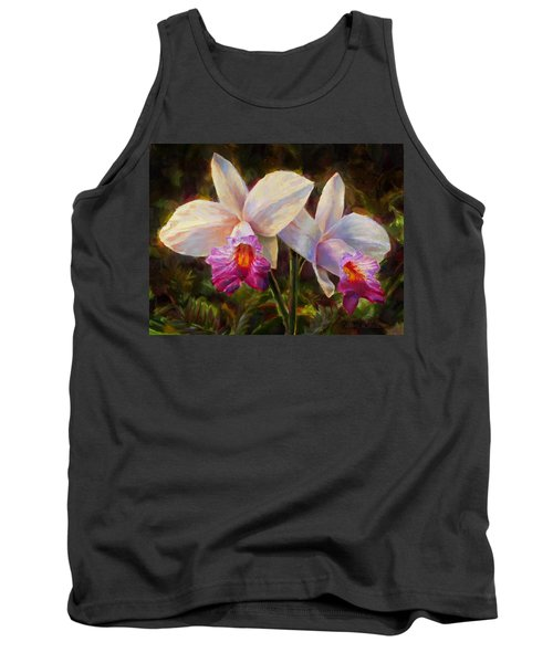Hawaiian Bamboo Orchid Tank Top