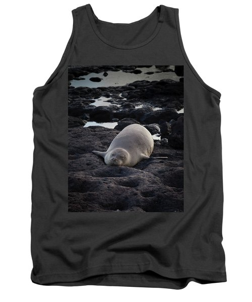 Hawaiian Monk Seal Tank Top by Roger Mullenhour