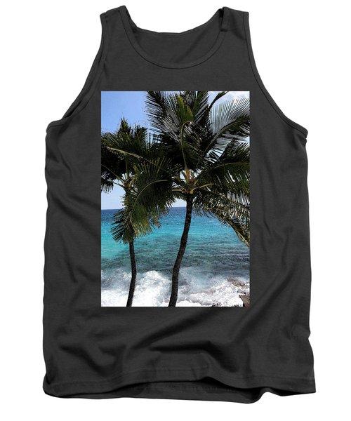 Hawaiian Palm Trees - All Images Copyright Karen L. Nicholson Tank Top by Karen Nicholson