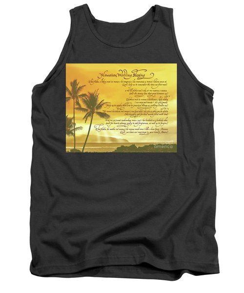 Hawaiian Wedding Blessing-sunset Tank Top