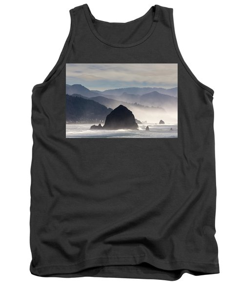 Haystack Rock On The Oregon Coast In Cannon Beach Tank Top