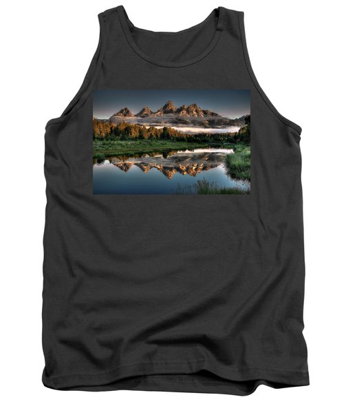 Hazy Reflections At Scwabacher Landing Tank Top by Ryan Smith