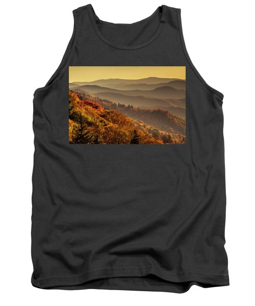 Hazy Sunny Layers In The Smoky Mountains Tank Top