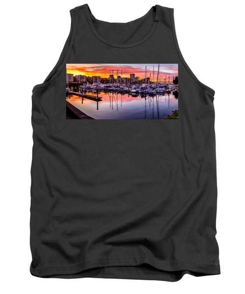 Hdr Sunset On Thea Foss Waterway Tank Top