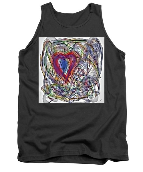 Heart In Motion Abstract Tank Top