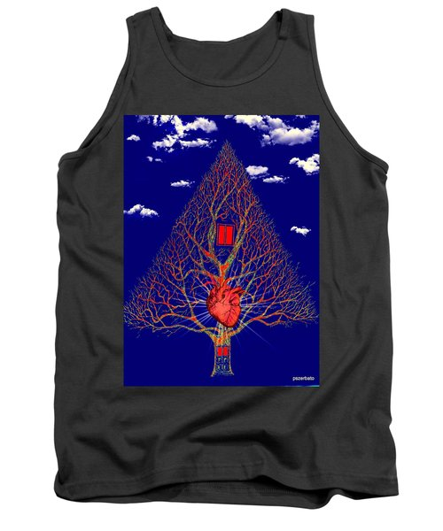 Heart Is The Abode Of The Spirit Tank Top by Paulo Zerbato