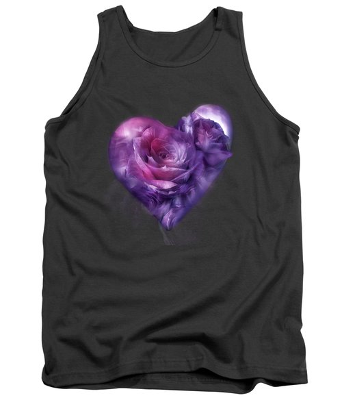 Heart Of A Rose - Burgundy Purple Tank Top