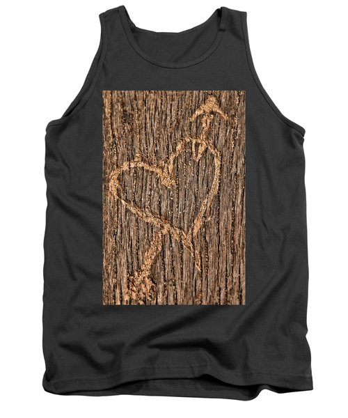 Heart On A Bench Tank Top