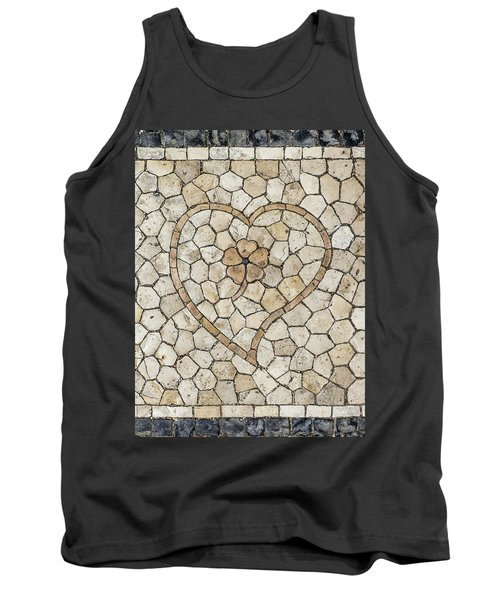 Heart Shaped Traditional Portuguese Pavement Tank Top