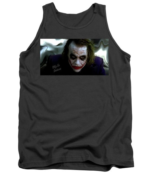 Heath Ledger Joker Why So Serious Tank Top