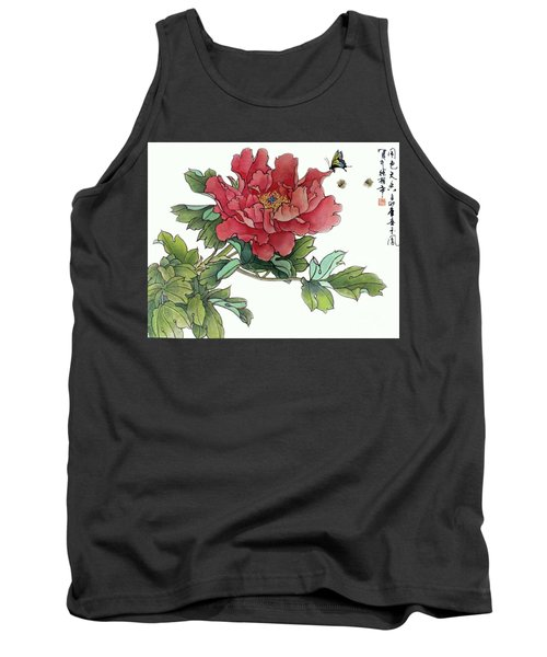Heavenly Flower Tank Top by Yufeng Wang