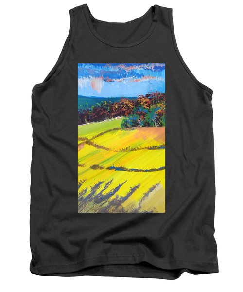 Heavenly Haldon Hills - Colorful Trees Landscape Painting Tank Top