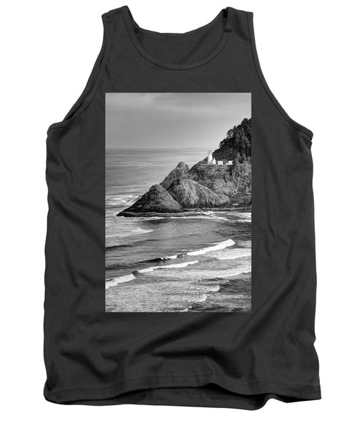 Heceta Head Light In Black And White Tank Top