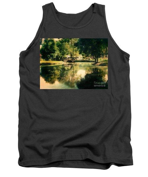 Heckscher Park Pond, Huntington Ny Tank Top