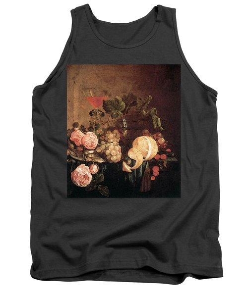 Heem Jan Davidsz De Still Life With Flowers And Fruit Tank Top