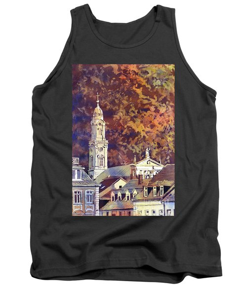Tank Top featuring the painting Heidelberg Evening by Ryan Fox