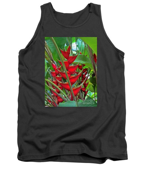Heliconias Tank Top by Steven Parker