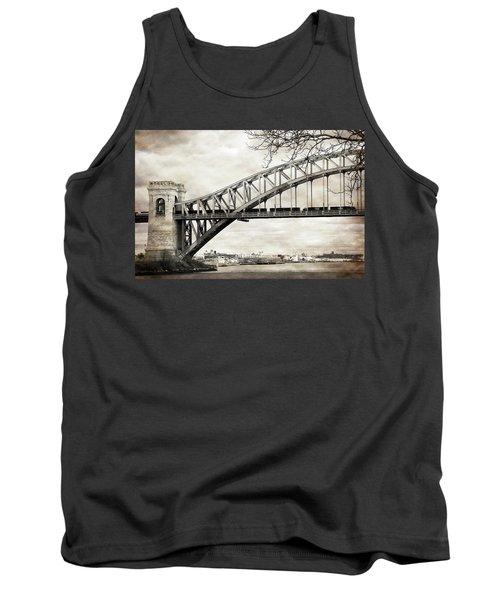 Hellgate Bridge In Sepia Tank Top